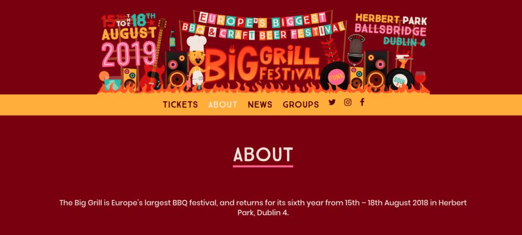 Sitio web de Grill Festival