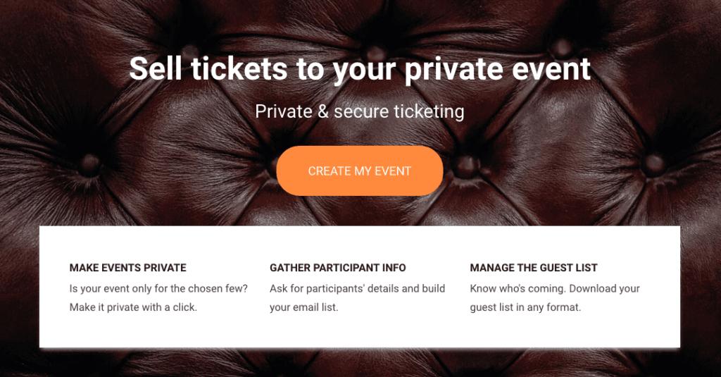 Billetto private events.