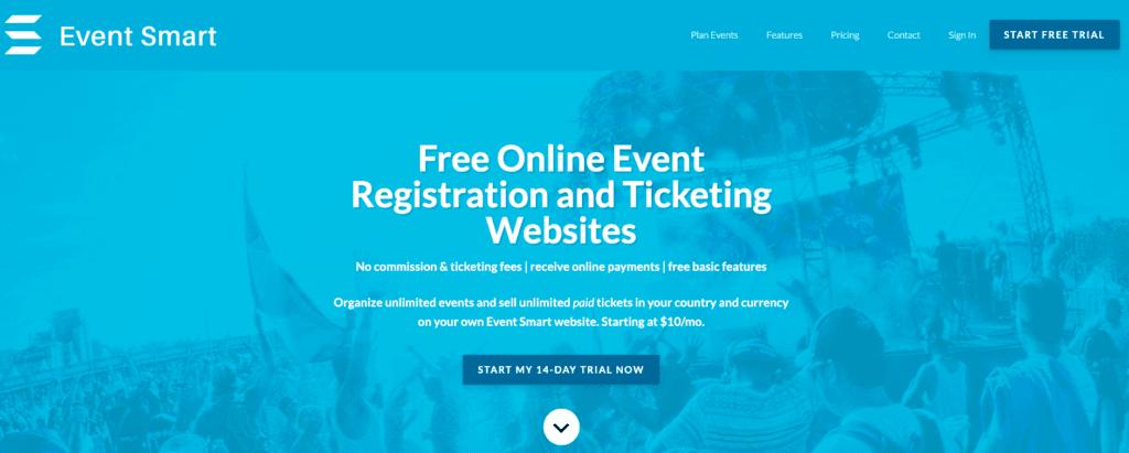 Hjemmesider til eventregistrering online: Hjemmesiden Event Smart.