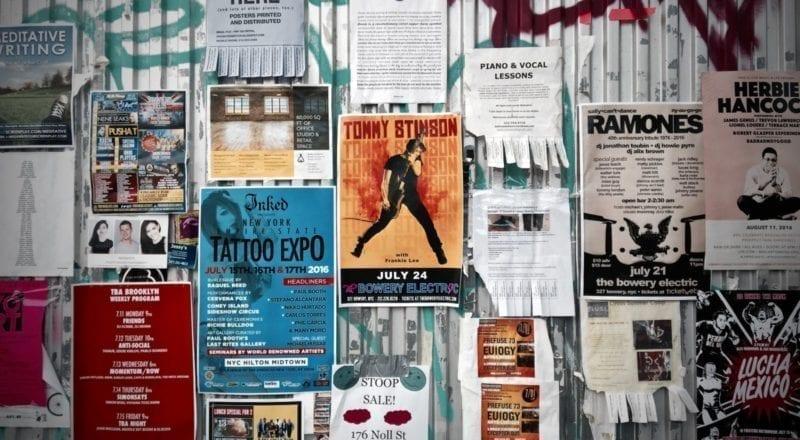 Offline event promovering: plakater